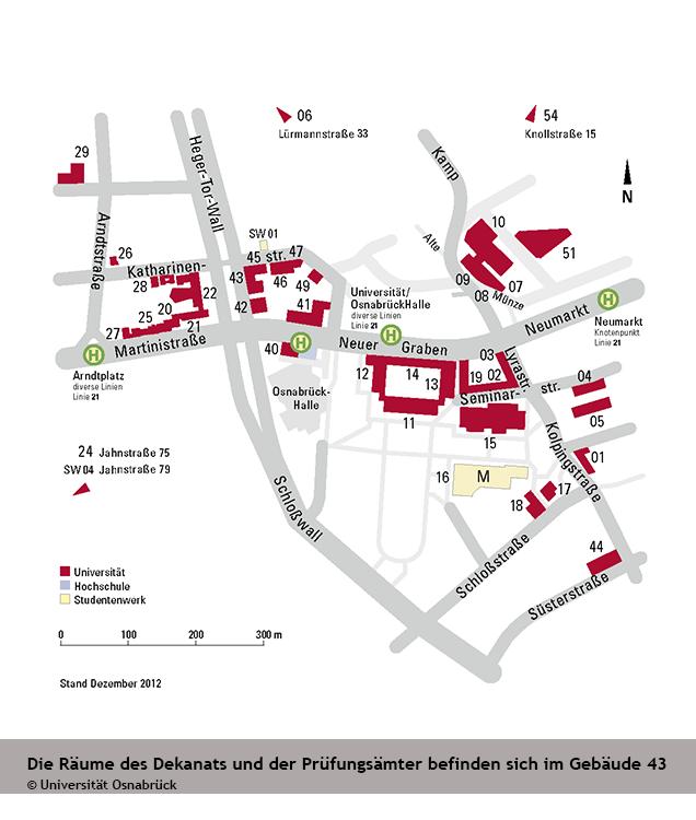 Anfahrt Und Lageplan Universität Osnabrück